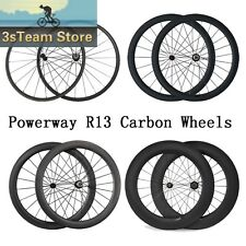3kmatte 700C 24/38/50/60/88mm Clincher Carbon Wheels Road Bike Light Wheelset