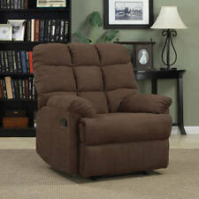 Comfortable Microfiber Biscuit Recliner Chair Relax Wall Hugger Furniture Back