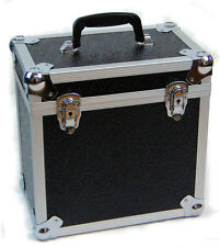"12"" VINYL LP RECORD HARD FLIGHT CASE STORAGE BOX HOLDS 50 RECORDS ALUMINIUM"