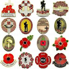 NEW LARGE RED ENAMEL POPPY LAPEL PIN BADGE SOLDIER CROSS ARMY MILITARY BROOCH UK