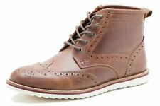Red Tape Horwood Mens Brogues Ankle Lace Up Boots leather White sole