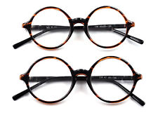 Vintage Mens Womens Round Tortoise Eyeglass Frames Spectacles Glasses Retro