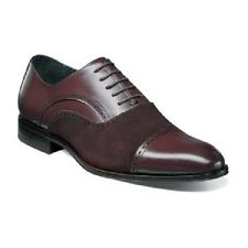 Stacy Adams mens shoes Sedgwick Cap Toe Oxford Suede Leather Oxblood 25069-603