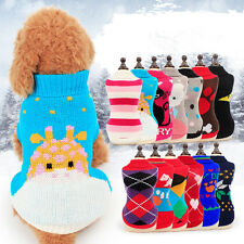 Warm Dog Sweater Dog Clothes Pet Coat Puppy Clothing Cat Sweater XXS/XS/S/M/L/XL
