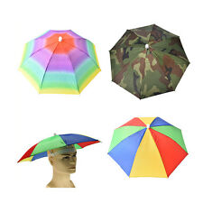 Outdoor Foldable Sun Umbrella Hat Golf Fishing Camping Headwear Cap Head Hat CL