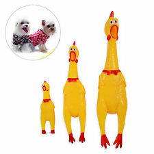 Creative Screaming Yellow Chicken Toy Squeaky Squeaker Pet Puppy Dog Chew Toy