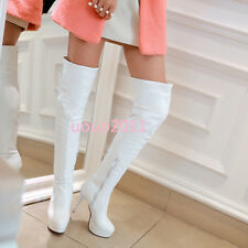Womens Sexy Stilettos High Heel Platform Over The Knee Thigh High Boots Plus Sz