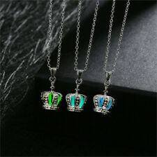 Royal Crown Princess Queen Women's Glow in The Dark Pendant Necklace Jewelry NEW
