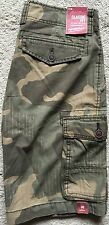 NEW Arizona Jeans Co. Olive Green Camo Classic Fit Cargo Shorts W30 MSRP $38