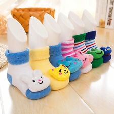 Fashion Newborn Baby Boy Girl Anti Slip Shoes Cartoon Animal Slipper Boots Socks