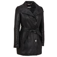 Wilsons Leather Womens Wing-Collar Belted Lamb Hipster Jacket