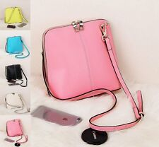 Fashion Solid Shell Leather Satchel Women Shoulder Crossbody Small Bags