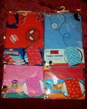 NEW CHILD PARTY TABLECLOTH COVER DOC MCSTUFFIN SPIDERMAN MICKEY MOUSE JAKE