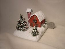 Z scale scratch built CHRISTMAS BARN DIORAMA - building, structure