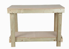 1.2m 1200mm 4ft WOODEN HAND MADE IN UK STRONG WORKBENCH TABLE- OPTIONS AVAILABLE