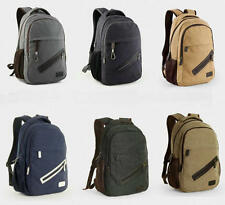 Fashion men's canvas backpack students bookbag travelling knapsack shoulder bag