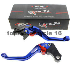 FXCNC CNC 3D Short Brake Clutch Hollow Lever For Suzuki HAYABUSA/GSXR1300 Blue