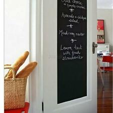 Black Chalkboard Wall Sticker Removable Blackboard Vinyl Decal DIY 200X45CM