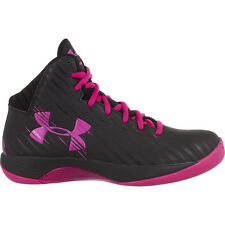 UNDER ARMOUR WOMENS JET BASKETBALL BLACK PINK SHOES **FREE POST AUSTRALIA