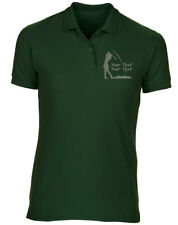 Embroidered Personalised Womens Golf  Polo, FREE Golf Towel 8 Colours T-Shirt by