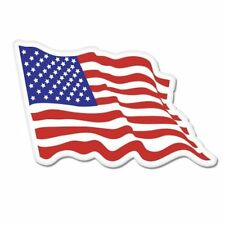 American Flag Waving - Vinyl Sticker Decal - SELECT SIZE