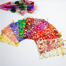 100 PCS Organza Jewelry Candy Gift Pouch Bags Wedding Party Xmas Favors Decor FG