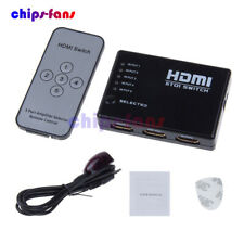 3/5 Port 1080P HDMI Switch Selector Switcher Splitter Hub+Remote for PS3 HDTV UK