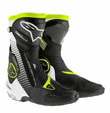 Alpinestars SMX Plus Black White Yellow Fluo Motorcycle Boots, SMX-Plus NEW!