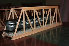 "O gauge handmade 23 5/8"" oak trestle bridge for Lionel,MTH ,Williams and others"