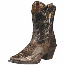 WOMEN'S ARIAT DAHLIA IN SILLY BROWN SHORT WESTERN BOOTS 10008780