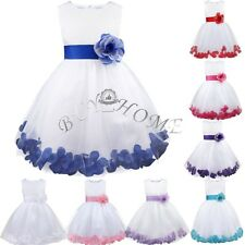 Pageant Flower Girl Dress Birthday Party Wedding Bridesmaid Gown Formal Dresses