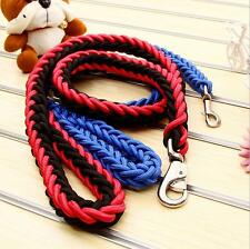 Large Pet Dog Nylon Plaited Rope Lead Useful Leashes Collar Traction Dogs Chain