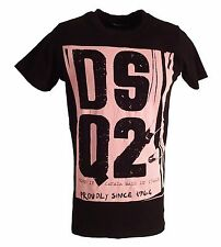 Dsquared2 Men`s T-shirt BNWT Black Italy 2016 Dsquared 100% Cotton All Sizes