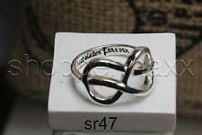 Best Sister Forever Infinity Sterling Silver 925 Nickel Free Family Sisters Ring