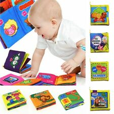 Baby Toddler Toys New Soft Cloth Books Activity Educational Learning Picture Kid