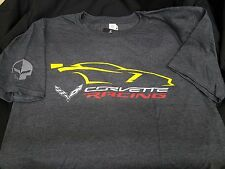 C7R JAKE CORVETTE RACING YELLOW CAR GESTURE ON GRAY TEE BUDS CHEVROLET ST MARYS