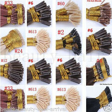 8A+ 1g/s Keratin Stick I/Tip Remy Human Hair Extension Real Virgin Straight hair