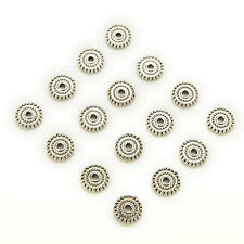 100pcs Tibet Silver Loose Spacer Beads Charms Jewelry Making Findings DIY FG