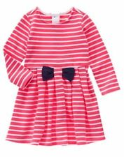 NWT Gymboree Best in Show Striped Long Sleeve Dress 12 18 24 2T,3T,4T,5T Toddler