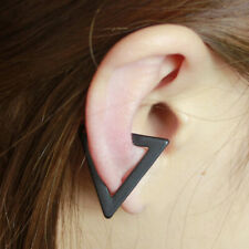 Unisex Punk Hollow Triangle Clip-On Earrings Cartilage Ear Cuff Studs Unique