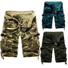 Mens Army Combat Cargo Military Sweatpants Overall Shorts Pants Work Trousers