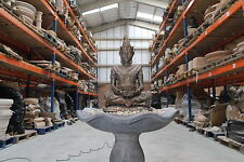 LARGE  BRONZED BUDDHA WATER FOUNTAIN FEATURE GARDEN ORNAMENT