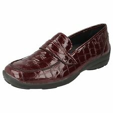 LADIES EASY B SHOES IN BURGUNDY LEATHER - STYLE 78246R BRISBANE