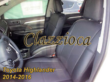 2014-2016 TOYOTA HIGHLANDER (2 ROW) | CLAZZIO LEATHER SEAT COVER (1+2 ROWS)