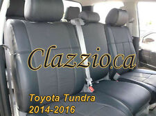 2014-2017 TOYOTA TUNDRA DOUBLE CAB | CLAZZIO LEATHER SEAT COVER (1ST+2ND ROWS)