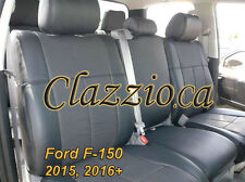 2015-2017 FORD F150 SUPER CREW   CLAZZIO LEATHER SEAT COVER (1ST+2ND ROW SEAT)