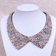 Women Vintage Pearl beaded Peter Pan Collar Handmade Choker Necklace (HY)