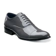 Stacy Adams Mens Tuxedo shoes Gala Gray Patent Leather lace up 24998-020 Dressy