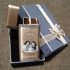 Personalised photo lighter. Photo text engraved on lighter ! FREE gift box