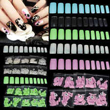 500x False Style Fake Nail Art Half Acrylic French Artificial UV Gel Tips Set